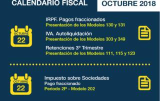 Calendario Fiscal Octubre 2018