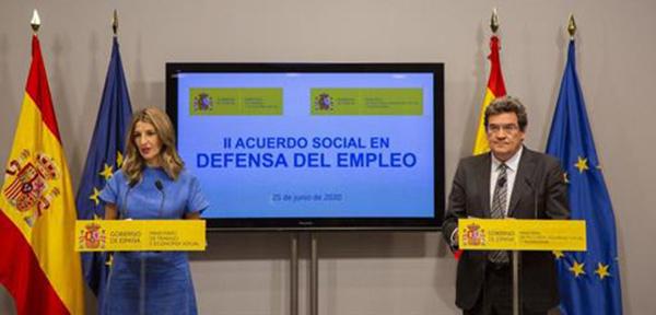 Acuerdo para prorrogar los beneficios de los ERTE hasta el 30 de septiembre