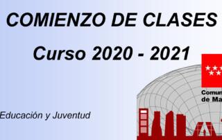 comienzo curso 2020-2021